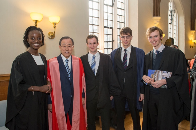 Event to awarding the Secretary-General with a Honorary Degree from the University of Cambridge at a Congregation of the Senate House.